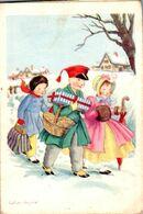 Calendrier 1951 Illustration Enfants Signée Calvet Rogniat - Petit Format : 1941-60