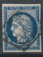 N°4 BLEU NOIR - 1849-1850 Cérès