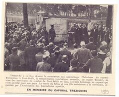 Orig. Knipsel Coupure Tijdschrift Magazine - Pont- Brulé - Memoire Du Caporal Trezignies - 1929 - Non Classés