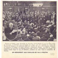 Orig. Knipsel Coupure Tijdschrift Magazine - Peuthy - Peutie - Monument Aux Fusillés De 1914  - 1929 - Non Classés