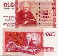ICELAND      500 Krónur       P-58a[1]       L. 22.5.2001       UNC   [sign. 57] - Islanda