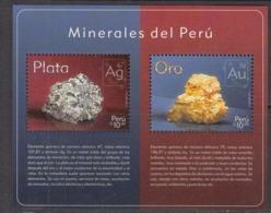 2017 Peru Minerals Gold Silver Chemistry  Complete Souvenir Sheet MNH - Pérou