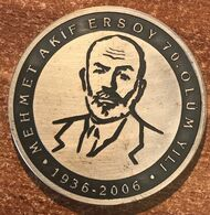 Turkey Mehmet Akif Ersoy 2006 Argent 31.47 Gr. (prix Fixe) - Andere