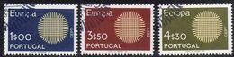 Cept 1970 Portugal Yvertn° 1073-75 (o) Oblitéré Cote 6 € Europa - 1910-... República