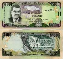 JAMAICA       100 Dollars       P-84f       15.1.2011       UNC - Giamaica