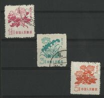 "CHINA / CHINE 1959 Y&T N° 1205 à 1207 Oblitérés (Used) ""Fleurs, Flowers"" - Gebraucht"