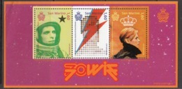 2017  San Marino David Bowie Music Souvenir Sheet   MNH - Saint-Marin