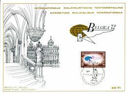 18172026 BE 19720325 La Louvière; Expo Belgica72; Fllet  Cob 1621 - Feuillets