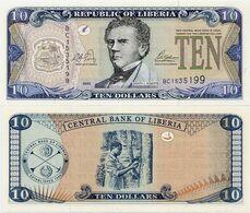 LIBERIA       10 Dollars        P-27a       2003       UNC - Liberia
