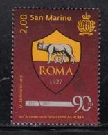 2017 San Marino AS Roma Football Complete  Set Of 1 MNH  @ BELOW FACE VALUE - Saint-Marin
