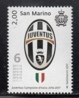 2017 San Marino Juventus Football Champions Complete  Set Of 1 MNH  @ BELOW FACE VALUE - Saint-Marin