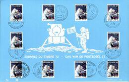 18172032 BE 19720423; Journée Du Timbre, Apollo 15; Fllet Luxe 10 Oblitérations Cob1622 - Feuillets