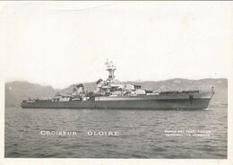 "Photo Originale : Navire Militaire - Croiseur ""GLOIRE"" (BP) (9 X 13 Cm) - Photo Marius Bar - War, Military"