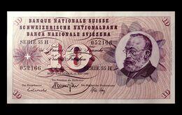 # # # Banknote Schweiz (Switzerland) 10 Franken 1968 AU- # # # - Switzerland