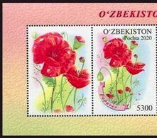 Uzbekistan 2020. Flowers. Poppies. Flora.  MNH - Uzbekistan