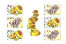 2017 Slovakia Mushrooms Fungi  Miniature Sheet Of 6  MNH @Below Face Value - Blocs-feuillets