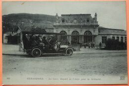 CARTE GERARDMER - 88 - LA GARE - DEPART DE L' AUTO POUR LA SCHLUCHT - AUTOBUS -SCAN RECTO/VERSO-10 - Gerardmer