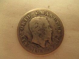 ITALIE Piece  En Argent  Victor Emmanuel II  L 1  - 1 Lires  1863  … : - 1861-1878 : Vittoro Emanuele II