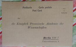 Carte Publicitaire : Königlich Preussische Akademie Des Wissenschaften (Berlin) - Tedesco