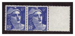 GANDON N°  720 Neuf ** Meches Reliées Tenant à Normal - Kuriositäten: 1945-49 Ungebraucht