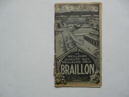 VIEUX PAPIERS - PUBLICITE : VETEMENTS DE TRAVAIL BRAILLON - Reclame