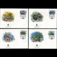 ANDORRA FR. 1987 - FDC-WWF Fish - Cartas