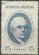 ARGENTINA 1938 President's 50th Death Anniv - 15c Pres. Sarmiento FU - Used Stamps