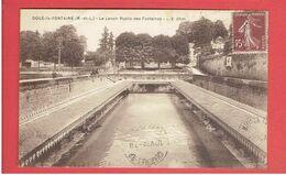 DOUE LA FONTAINE 1932 LAVOIR PUBLIC DES FONTAINES CARTE EN BON ETAT - Doue La Fontaine