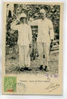 MADAGASCAR TAMATAVE Agents De Police Indigenes Salut Au Photographe 1907 Timbrée  CACHET AU DOS    /D04-S2017 - Madagaskar