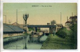 93 BOBIGNY Batelier Sur Sa Péniche Pont De La Folie Bel Aspect Toilé Couleur 1910- Batellerie       /D07-S2017 - Bobigny