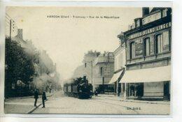 18 VIERZON Rue République Train Tramway Commerce AU PETIT PARIS Modes - Edit Salle   /D18-S2017 - Vierzon
