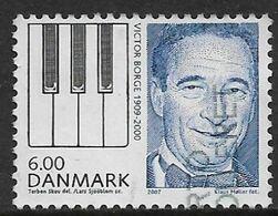 Denmark 2007. Scott #1394 (U) Victor Borge (1909-2000), Comedian And Piano Keys - Danimarca