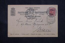 FINLANDE - Entier Postal De Abo Turku Pour Wien En 1895  - L 69008 - Storia Postale