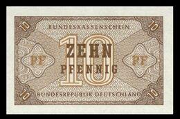 # # # Banknote Germany (BRD) 10 Pfennig 1949 UNC # # # - [ 7] 1949-… : RFA - Rep. Fed. Tedesca