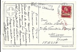 Postcard Geneve To Mirano - Verificato Per Cencura - Milano Posta Estera 1916. - Marcofilía