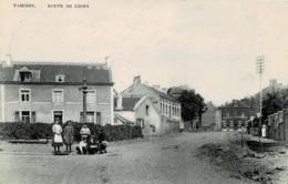 Tamines Route De Ligny Circulée En 1912 - Sambreville