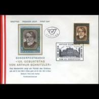 AUSTRIA 1987 - FDC - 1396 Poet A.Schnitzler - 1981-90 Briefe U. Dokumente