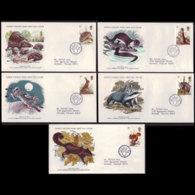 G.B. 1977 - FDC - 816-20 Wildlife - FDC