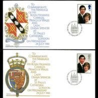 G.B. 1981 - FDC - 950-1 Royal Wedding - FDC