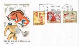 37440. Carta F.D.C. MADRID 1967. Pinturas Rupestres, Dia Del Sello - FDC