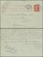 France 1909 - Courriers Convoyeurs- Carte Postale De Fourmies-Valenciennes à Destination Courtrai... (VG) DC-9021 - Railway Post