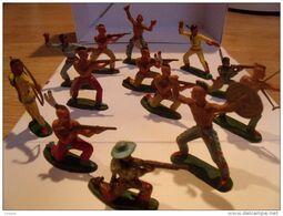 MICHEL, Lot De Figurines Indien Cowboy Michel - Figurini & Soldatini