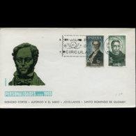 SPAIN 1965 - FDC-Kings - 1931-Aujourd'hui: II. République - ....Juan Carlos I