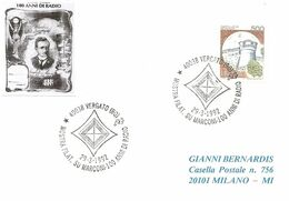 ITALIA - 1992 VERGATO (BO) Cento Anni Di Radio - Mostra Su GUGLIELMO MARCONI, Simbolo Schematizzato Dell'antenna - 2783 - Telecom