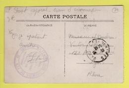 DD / FRANCE SUR CARTE POSTALE  / CACHET MILITAIRE : SERVICE MILITAIRE DES CHEMINS DE FER - GARE NÎMES RASSEMBLEMENT - 1. Weltkrieg 1914-1918