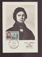 """France, FDC Carte Du 20 Mai 1961 à Marseille """" Honoré Daumier Peintre """" - 1960-1969"""