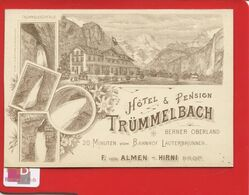 SUISSE HOTEL Pension  TRUMMELBACH Berner Oberland Bahnhof Lauterbrunnen Almen Hirni Lith Brugger - BE Berne