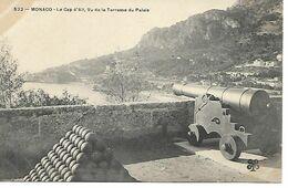 Carte Postale - CPA N°522 MONACO - Le Cap D'Ail, Vu De La Terrasse Du Palais. - Terrassen