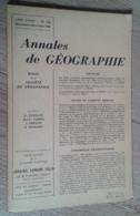 Annales De Géographie N°376 (novembre-décembre 1960) - Viaggi