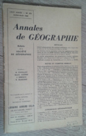 Annales De Géographie N°374 (juillet-août 1960) - Viaggi